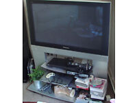 "Panasonic Plasma TV, 37"" flat screen, TH-37PE50B viera model,With Panasonic stand."