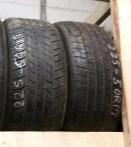 Set of two 225 50 17 tires for sale