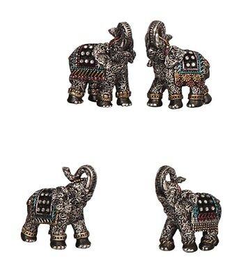 12 x Elefant Figur mit Glitzersteinen ca. 7cm