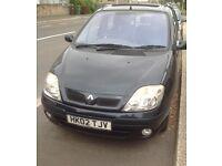 2002 Renault scenic dynamic 12 months mot no advisories sale or swap