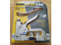 BRAND NEW - Heavy Duty Hand Staple Gun + Staples & Nails Stapler