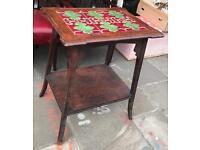 Art Nouveau Tiled Occasional Table