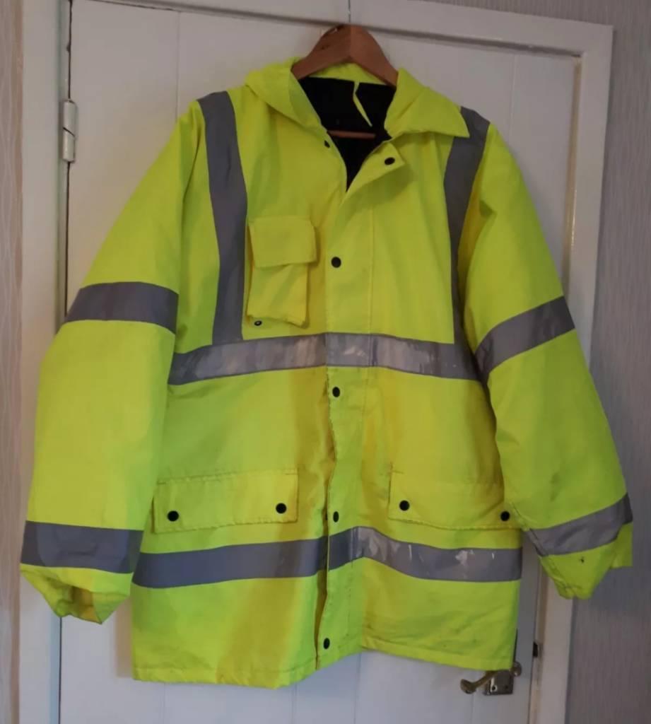 Large Padded Waterproof Hi Vis Jacket