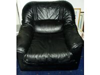 ITALIAN, LEATHER 3 PIECE SUITE, NOT USED ANYMORE, COST THOUSANDS££££