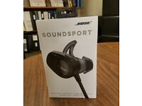 Bose SoundSport Bluetooth Earphones *As New* - Black