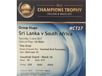 South Africa vs Sri Lanka - ICC Champions Trophy 2017