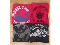 Four authentic, brand new men's True Religion designer T-shirts. All are size large / extra large
