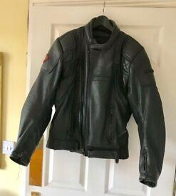 Retro Frank Thomas FT Defender Black Leather Biker Jacket
