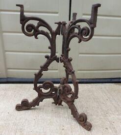 Art nouveau cast iron bistro table