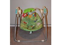 Fisher Price Rainforest Swing in excellent condition with original box