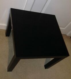 Ikea lack black brown side table coffee table