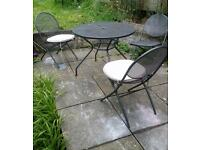 Garden table with 3 chairs
