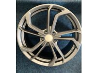 "VW GOLF CADDY AUDI TT A3 A4 x4 19"" GOLF REIFNITZ STYLE ALLOY WHEELS GREY 8J"
