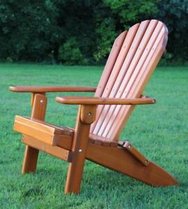 Handcrafted Local Cedar Wood Folding Chairs for Deck, Patio, Lawn, Garden, Cottage