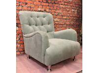 Designer Bedroom chair in Duck Egg Blue (Schriber)