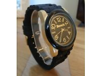 Bench BC0404GDBK - Black Silicone Watch. NEW RRP: £45