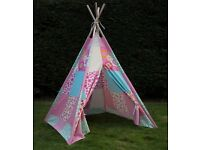 ***NEW*** Twinkle Stars Childs/Girls Teepee/WIgwam Canvas Play Tent ***FREE DELIVERY***
