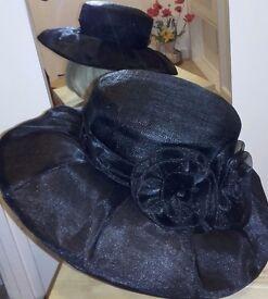 LADIES FORMAL BLACK HAT