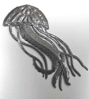Jellyfish Haitian Recycled Steel Metal Drum Wall Art 17