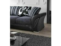 🔵💖🔴COMFORTABLE FEEL SOFA🔵💖🔴SHANNON - NEW FABRIC & FAUX LEATHER SHANNON CORNER/3 2 SEATER
