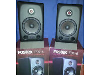 FOSTEX PX6 ACTIVE STUDIO MONITORS. COMES WITH BALANCED CABLES AND ISOLATION PADS