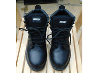 Black Steel Toe Cap Safety Boots 'Arco' Size UK7 EU41 - £10 no offers