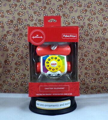 Hallmark Fisher Price - Chatter Telephone - Christmas Tree Ornament New