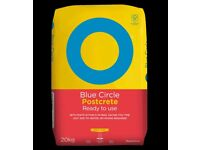 FREE Blue Circle Postcrete - 20kg bag + 15kg remaining open bag, surplus products POST MIX FENCE