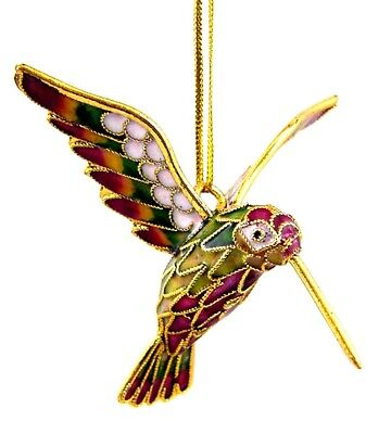 BUTW Gorgeous Handmade Articulated Cloisonne Humming Bird Enameled 2129P