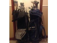 Golf Clubs, 2 sets with bags