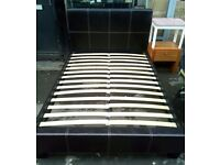 Leather bed, Bed, double bed