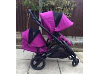 Britax B-Dual double/twin pushchair/buggy/travel system+carrycot Excellent condition QUICK SALE