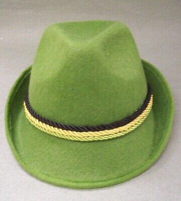 Oktoberfest German Alpine Hat Swiss Lederhosen Austrian Bavarian German Green