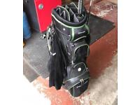 Stowamatic golf bag several compartments