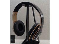 S6 Wireless Bluetooth Headphones - Gloss Black & Gold