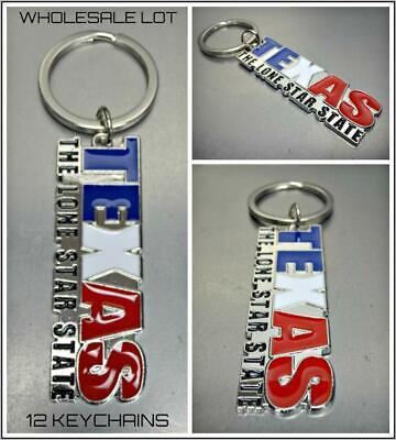 WHOLESALE LOT TEXAS Lone Star State KeyChain Key Ring Souvenir Gift 12 Key (Star Key Ring)
