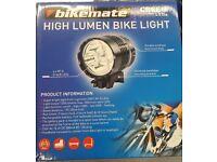 BIKEMATE CREE LED HIGH LUMEN BIKE LIGHT BRAND NEW WITH RECEIPT