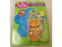 NEW Polly Pocket Trendy Tronics Clock Set
