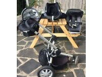 Quinny Buzz 3In1 Travel System Pushchair, Carrycot & Car Seat