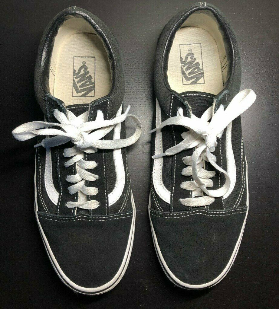 1f25a1ec2a9f4 Vans Old Skool Skate Shoes Black/White unisex sizes Canvas Sneakers UK9 |  in Fulham, London | Gumtree