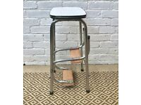 Vintage Folding Step Ladder Stool #201