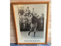 Walter Hagen Photographic poster