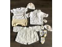 Large selection of newborn neutral baby clothes