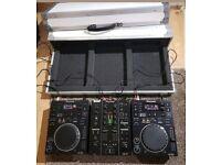 Setup 2 x Pioneer cdj 350 + djm 350 + flight case + cables