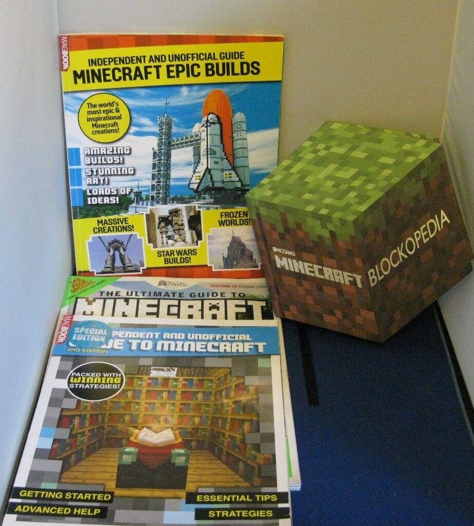 MINECRAFT BLOCKOPEDIA PLUS THREE GUIDE MAGAZINES TO BUILDING MINECRAFT | in  Milton Keynes, Buckinghamshire | Gumtree