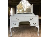 Hand painted Shabby Chic Vintage Dressing Table
