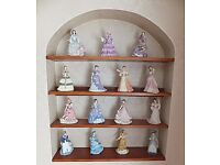 """A 14 Doll collection from Wedgwood """"The Fashionable Victorians"""" in as new condition and more"""