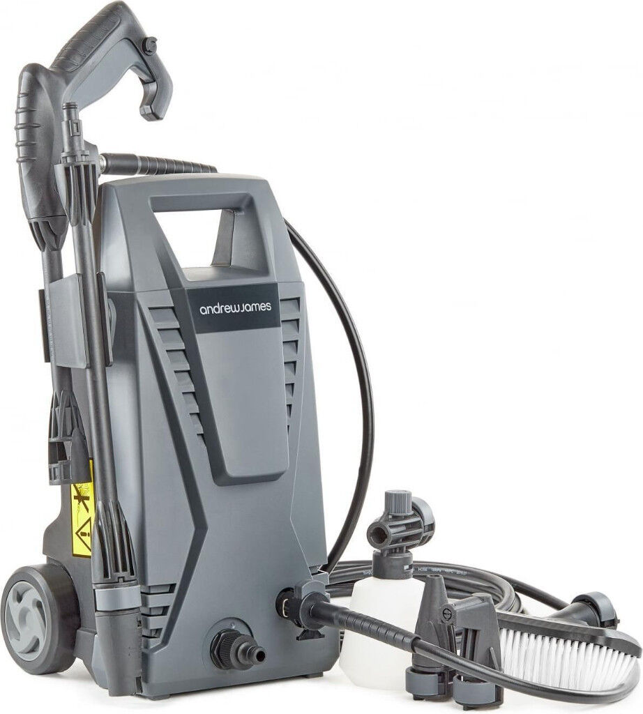 New Andrew James Immacuclean Pressure Washer Power Jet Wash with 5 Attachments 1500W