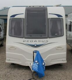 BAILEY PEGASUS ANCONA 2013 *FIXED BUNKS* 6 BERTH CARAVAN