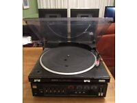 Sanyo Record Player (Turntable/Amplifier/Speakers)